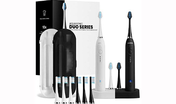 AquaSonic DUO Dual Handle Electric ToothBrushes